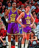Karl Malone & John Stockton 1994 Action Photo