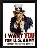 I Want You for the U.S. Army, c.1917 Prints by James Montgomery Flagg