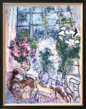 La ventana blanca Póster por Marc Chagall