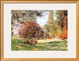 The Park at Monceau Poster by Claude Monet