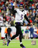 Joe Flacco Touchdown Celebration 2012 AFC Championship Game Photo