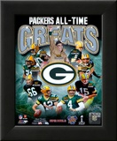 Green Bay Packers All Time Greats Composite Framed Photographic Print