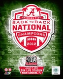 University of Alabama Crimson Tide 2013 BCS Back-To-Back National Champions Team Logo Photo
