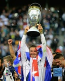 David Beckham with the 2012 MLS Cup Trophy Foto