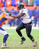 Terrell Suggs 2012 AFC Divisional Playoff Game Action Photo
