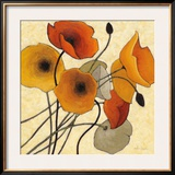Pumpkin Poppies II Posters by Shirley Novak