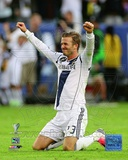 David Beckham Celebrates Winning the 2012 MLS Cup Photo