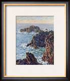 Rock Points at Belle-Ile, c.1886 Art by Claude Monet
