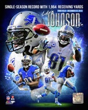 Calvin Johnson Single-Season Receiving Yards Record Portrait Plus Photo