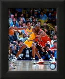 Michael Jordan & Kobe Bryant 1998 Action Framed Photographic Print