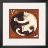 Yin Chi Yang Cats Posters by Aline Gauthier