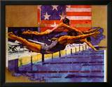 Olympic Swimmers Posters by Michael C. Dudash