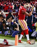 Colin Kaepernick Touchdown 2012 NFC Divisional Playoff Action Photo
