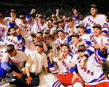 The New York Rangers 1994 Stanley Cup Champions Team Celebration Photo