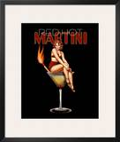 Red Hot Martini Art by Ralph Burch