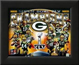 Green Bay Packers Super Bowl XLV Champions Composite (Horizontal) Framed Photographic Print