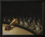 His Master's Voice Poster by Michael Sowa