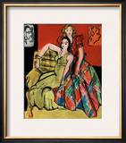 Two Young Women, the Yellow Dress and the Scottish Dress, c.1941 Prints by Henri Matisse