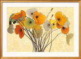 Pumpkin Poppies I Art by Shirley Novak