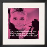 Audrey Hepburn: Earrings Poster