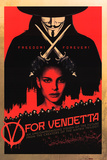 V for Vendetta - Red Movie Poster Print