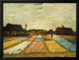 Flower Beds in Holland, c.1883 Poster by Vincent van Gogh
