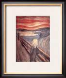O Grito, cerca de 1893 Pôsters por Edvard Munch