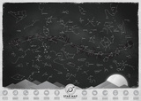 Star Map - A Map of the Constellations - Glow in the Dark Poster Posters