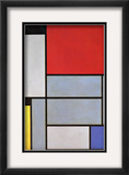 Tableau I Framed Giclee Print by Piet Mondrian