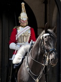 Life Guard One of the Household Cavalry Regiments on Sentry Duty, London, England, United Kingdom Photographie par Walter Rawlings