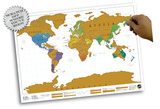 World Map - Scratch Map Poster Póster