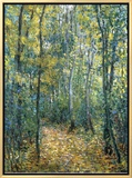 Sous-Bois, 1876 Framed Canvas Print by Claude Monet