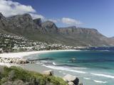 The Twelve Apostles, Camps Bay, Cape Town, Cape Province, South Africa, Africa Fotografisk tryk af Peter Groenendijk