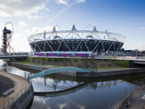 The Olympic Stadium with the Arcelor Mittal Orbit and the River Lee, London, England, UK Photographic Print by Mark Chivers