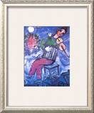 Violoniste Bleu Prints by Marc Chagall
