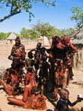 Himba People, Kaokoveld, Namibia, Africa Photographic Print by Nico Tondini