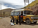 Bus Stop, Pulacayo, Bolivia, South America Photographic Print by Simon Montgomery