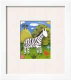 Zara the Zebra Prints by Sophie Harding