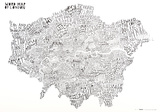 Word Map - London Poster Photo