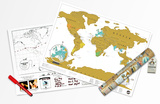 World Map - Scratch Map - Travel Edition Poster Set Prints