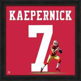 Colin Kaepernick, San Francisco 49ers representation of the player's jersey Framed Memorabilia