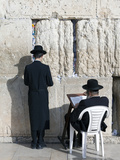 Jewish Quarter of Western Wall Plaza, People Praying at Wailing Wall, Old City, Jerusalem, Israel Photographic Print by Gavin Hellier