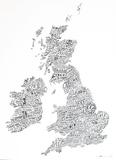 Word Map - UK Poster Prints