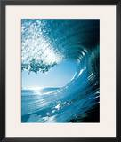 Blue Curl Prints by Dennis Junor