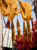 Brightly Coloured Wool Hanging to Dry in the Dyers Souk, Marrakech, Morocco, North Africa, Africa Photographic Print by Ellen Rooney