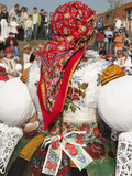 Woman Wearing Folk Dress During Autumn Feast Festival, Borsice, Brnensko, Czech Republic, Europe Photographic Print by Richard Nebesky