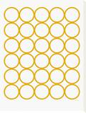Yellow Circles Stretched Canvas Print by  Avalisa