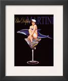 Blue Dolphin Martini Art by Ralph Burch