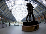 Statue Meeting Place by Paul Day, St. Pancras Railway Station, London, England, UK Photographic Print by Peter Barritt