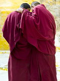 Two Buddhist Monks from the Back, Tibet, China, Asia Photographic Print by Nancy Brown